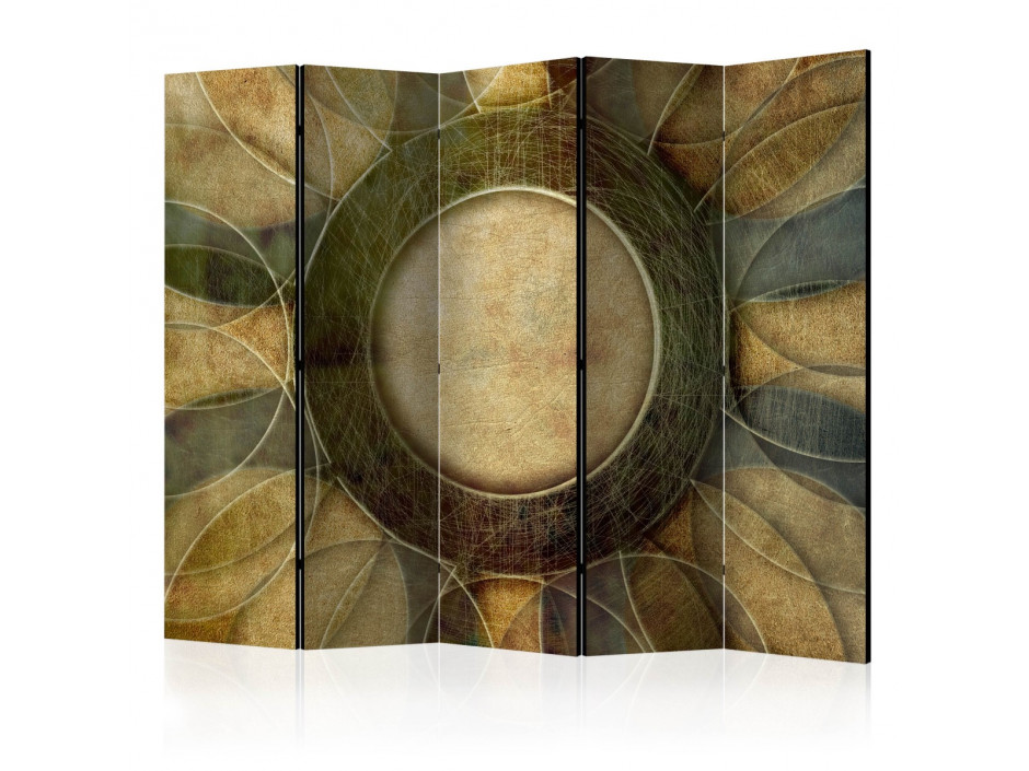 Paravent 5 volets  flower  retro style II [Room Dividers]