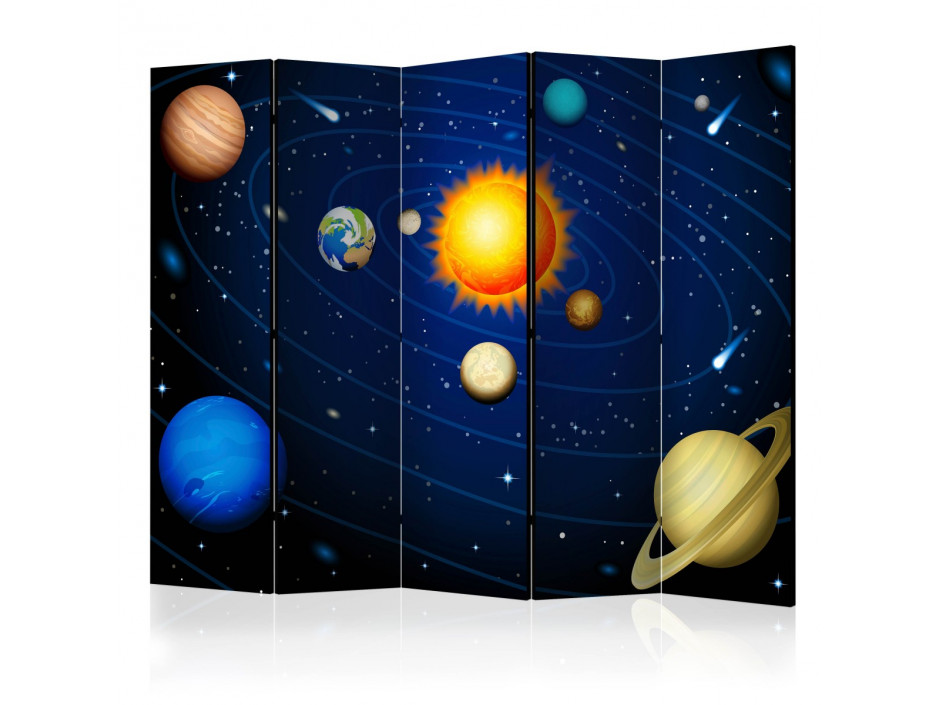 Paravent 5 volets  Solar system II [Room Dividers]