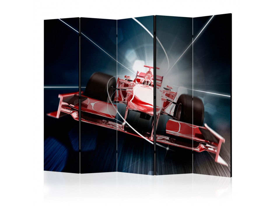 Paravent 5 volets  Speed and dynamics of Formula 1 II [Room Dividers]