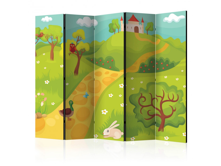 Paravent 5 volets  A path to a magical castle II [Room Dividers]