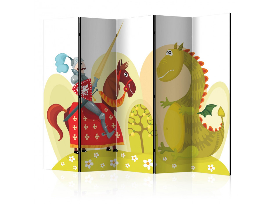 Paravent 5 volets  Dragon and knight II [Room Dividers]