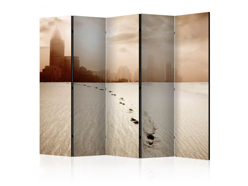 Paravent 5 volets  A path to a big city II [Room Dividers]