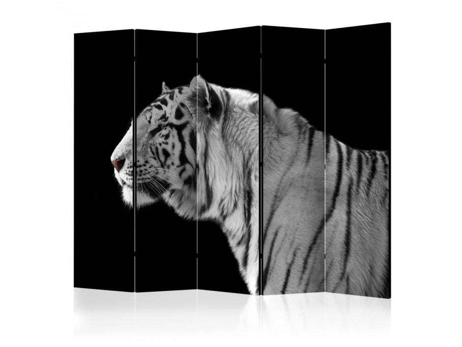 Paravent 5 volets  White tiger II [Room Dividers]