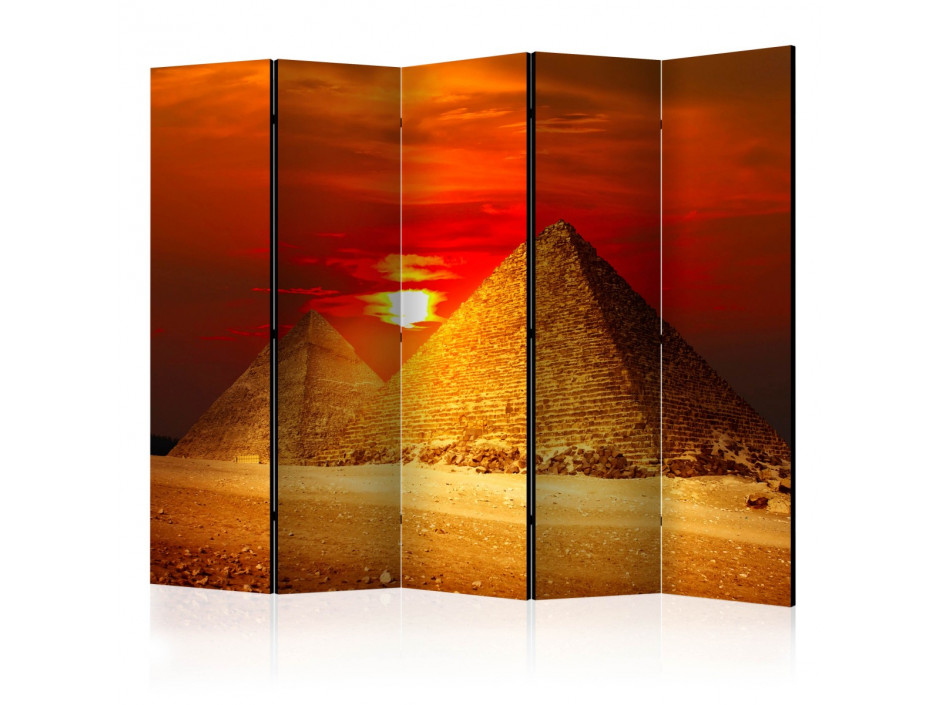 Paravent 5 volets  The Giza Necropolis  sunset II [Room Dividers]