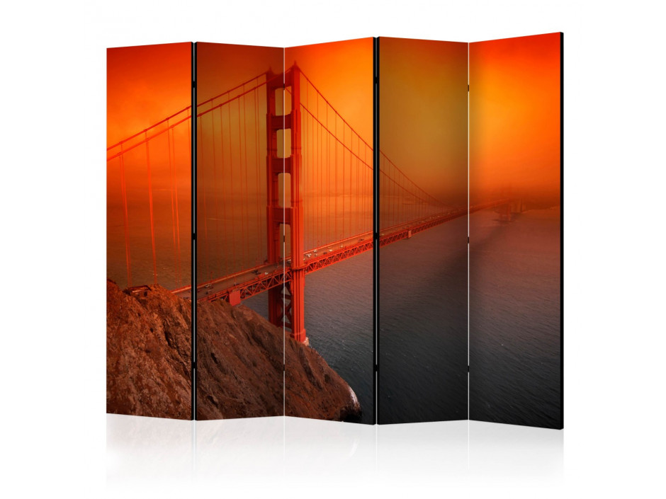 Paravent 5 volets  Golden Gate Bridge II [Room Dividers]
