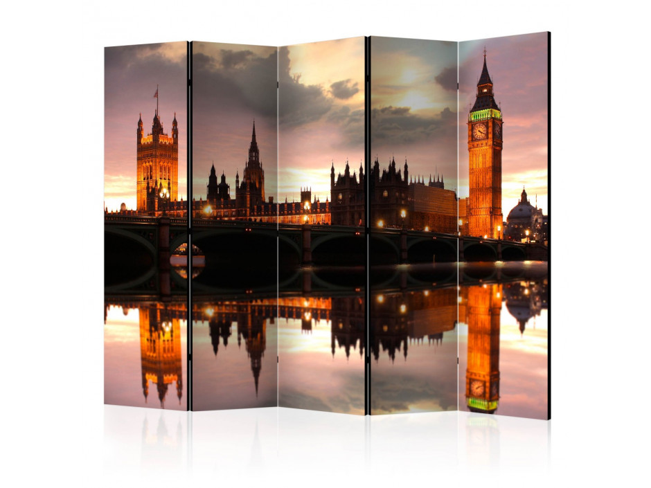 Paravent 5 volets  Big Ben in the evening, London II [Room Dividers]