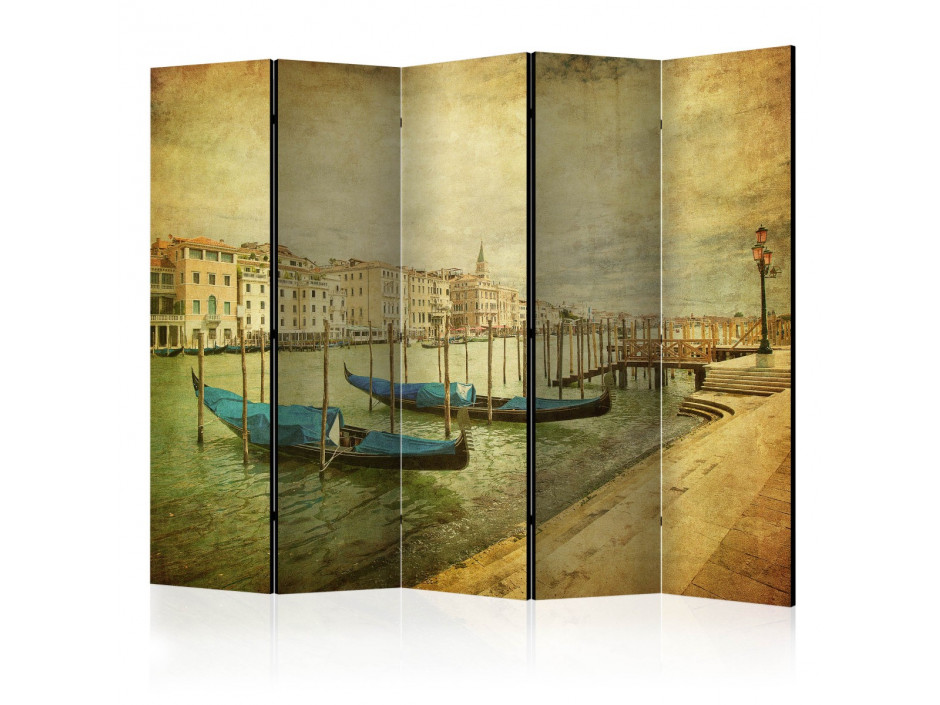 Paravent 5 volets  Grand Canal, Venice (Vintage) II [Room Dividers]