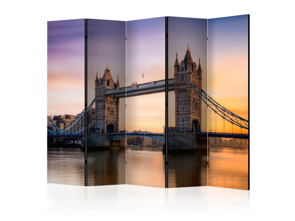 Paravent 5 volets  Tower Bridge at dawn II [Room Dividers]