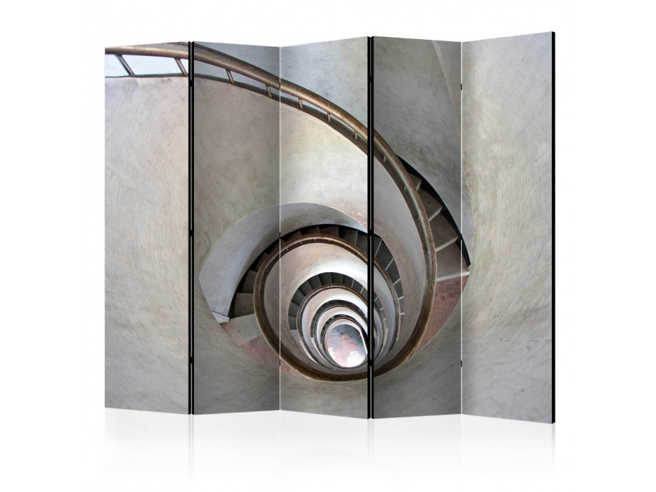 Paravent 5 volets  White spiral stairs II [Room Dividers]