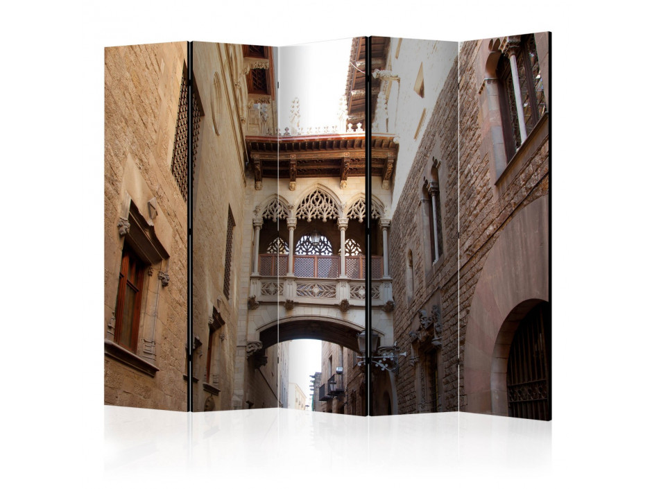 Paravent 5 volets  Barcelona Palau generalitat in gothic Barrio II [Room Dividers]