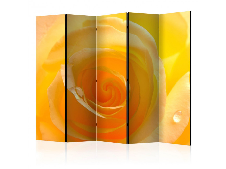 Paravent 5 volets  Yellow rose II [Room Dividers]