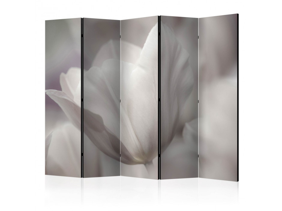Paravent 5 volets  Tulip  black and white photo II [Room Dividers]