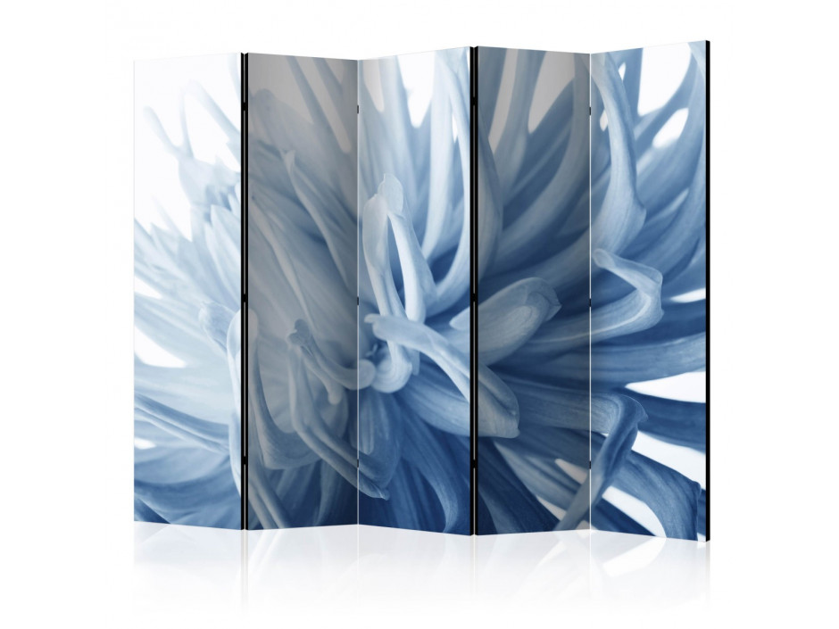 Paravent 5 volets  Flower  blue dahlia II [Room Dividers]