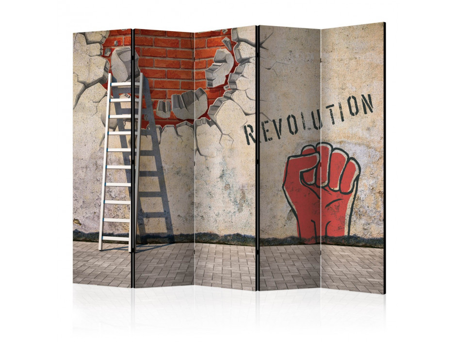 Paravent 5 volets  The invisible hand of the revolution II [Room Dividers]