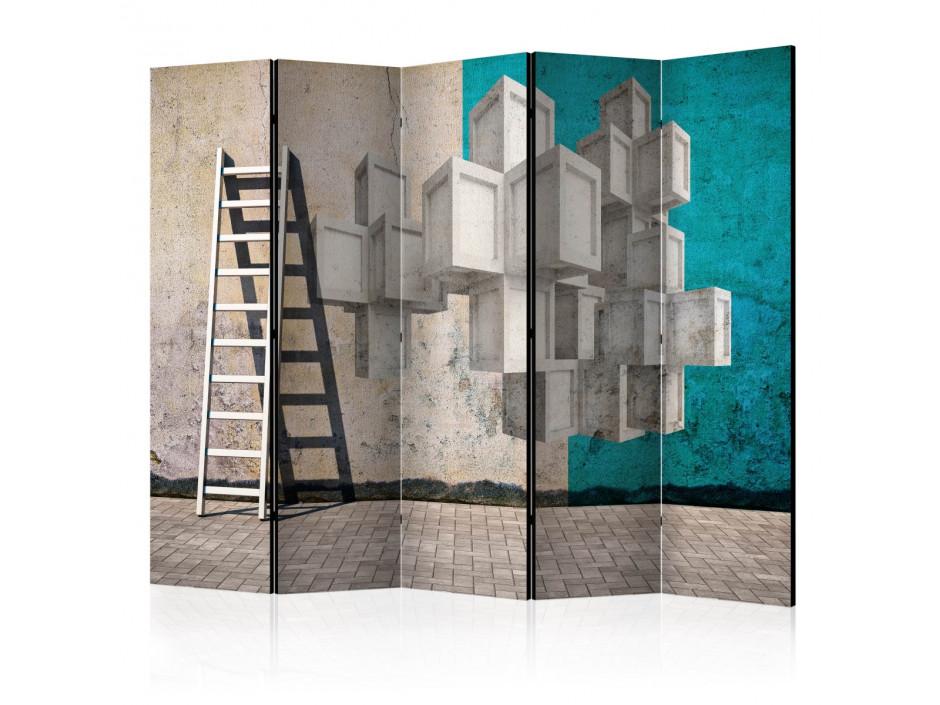 Paravent 5 volets  Concrete blocks II [Room Dividers]