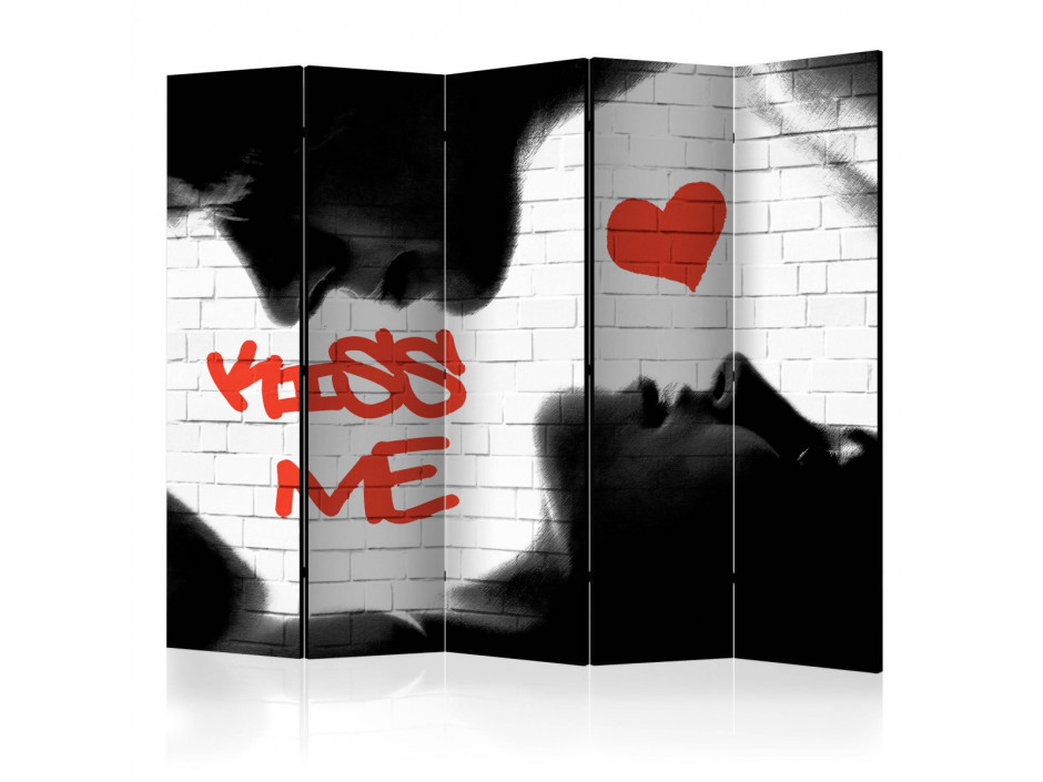 Paravent 5 volets  Kiss me II [Room Dividers]