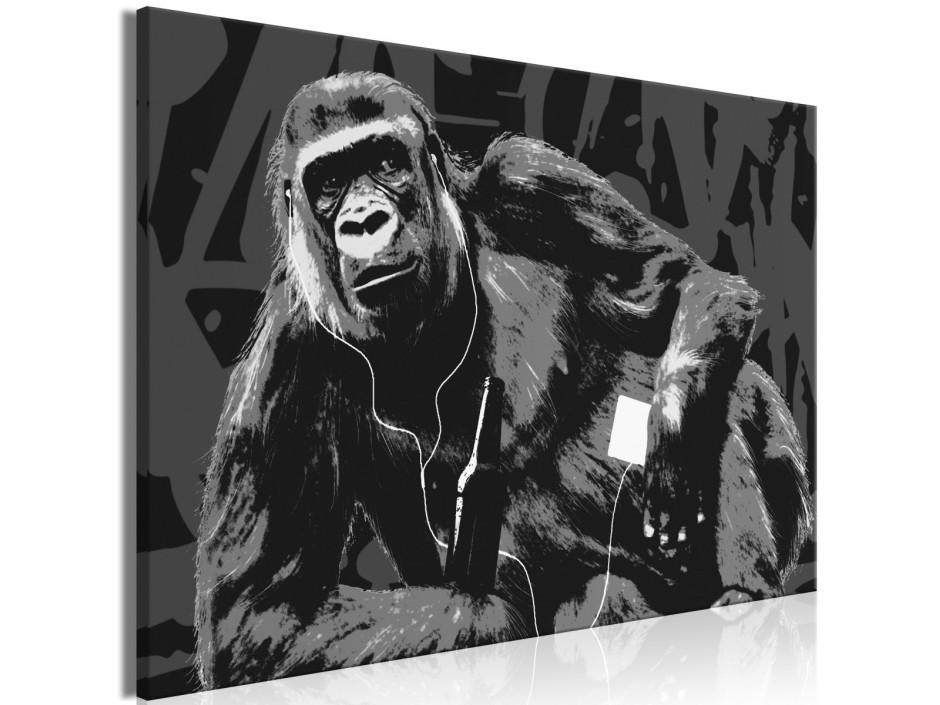 Tableau  Pop Art Monkey (1 Part) Narrow Grey