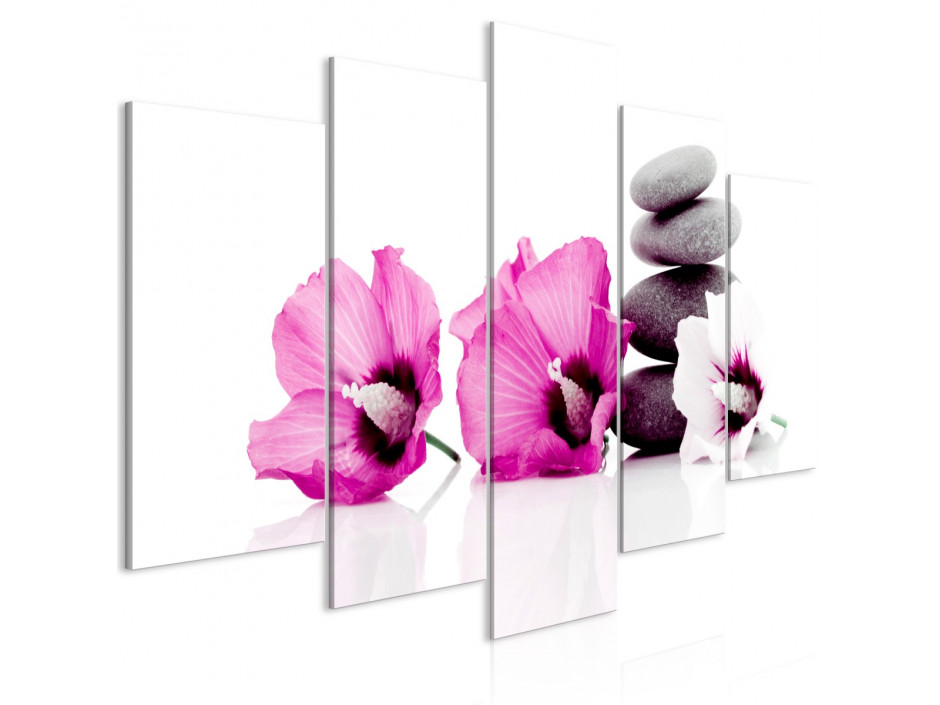 Tableau  Calm Mallow (5 Parts) Wide Pink