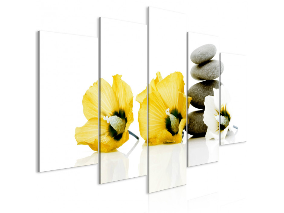 Tableau  Calm Mallow (5 Parts) Wide Yellow
