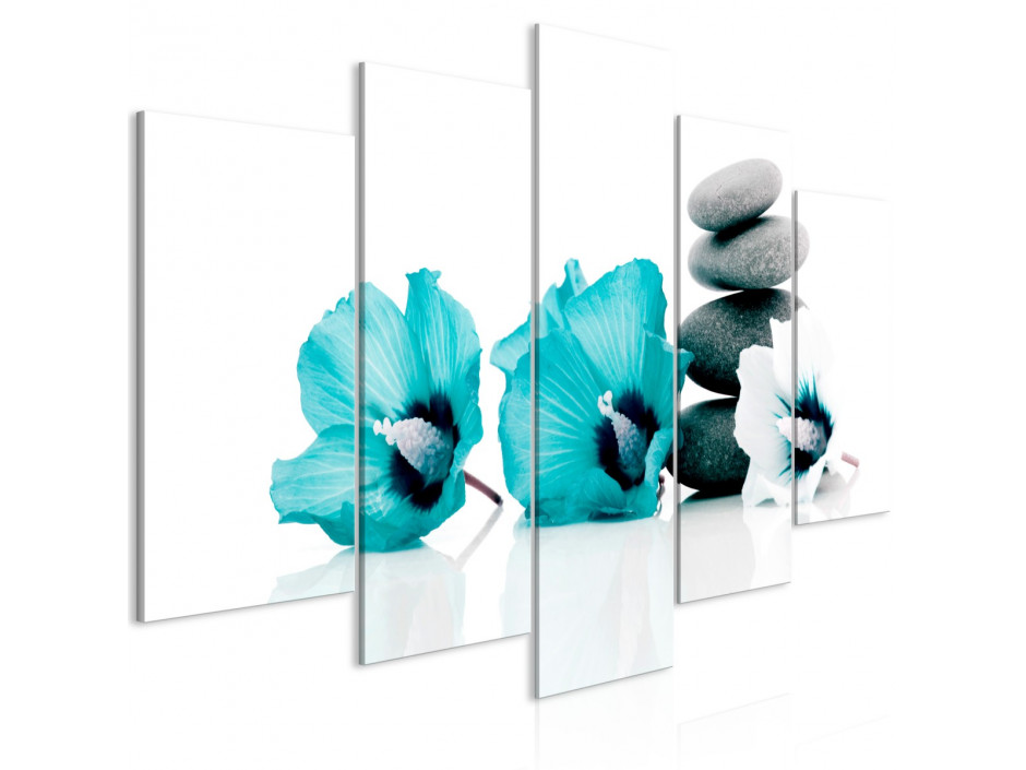 Tableau  Calm Mallow (5 Parts) Wide Turquoise
