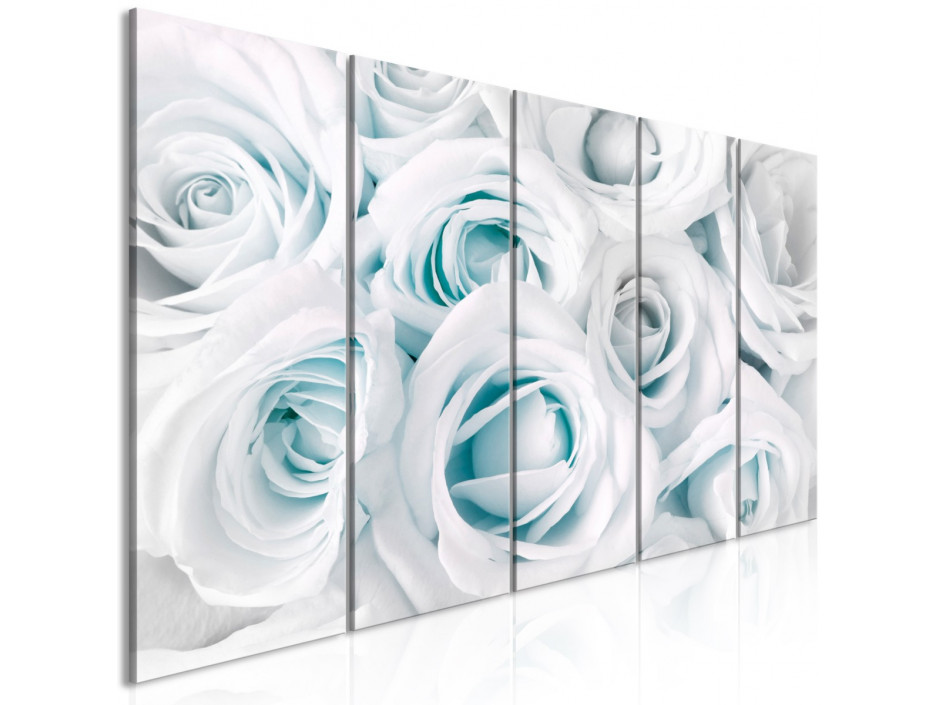Tableau  Satin Rose (5 Parts) Narrow Turquoise