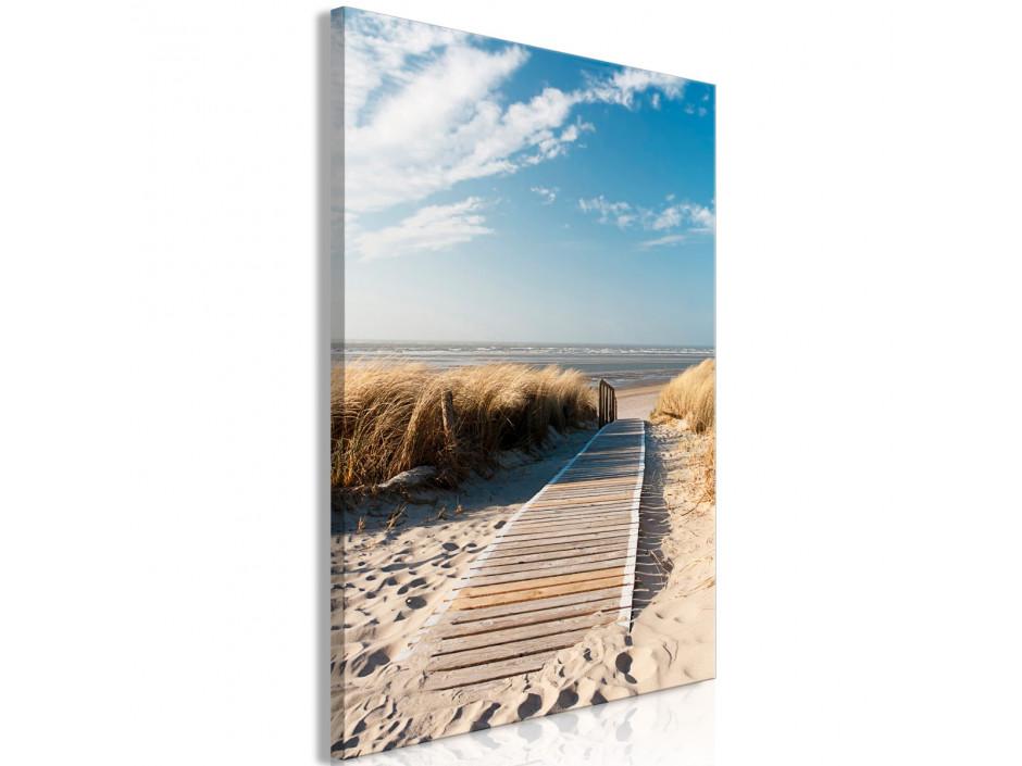 Tableau  Lonely Beach (1 Part) Vertical