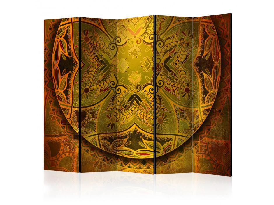 Paravent 5 volets  Mandala Golden Poem II [Room Dividers]