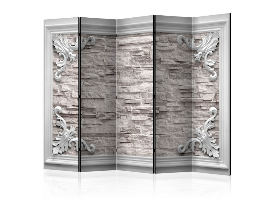 Paravent 5 volets  Brick in the Frame (Beige) II [Room Dividers]