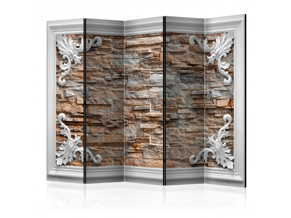 Paravent 5 volets  Brick in the Frame (Brown) II [Room Dividers]