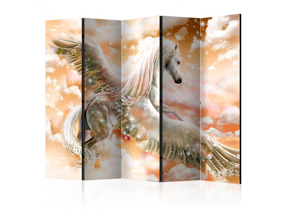 Paravent 5 volets  Pegasus (Orange) II [Room Dividers]