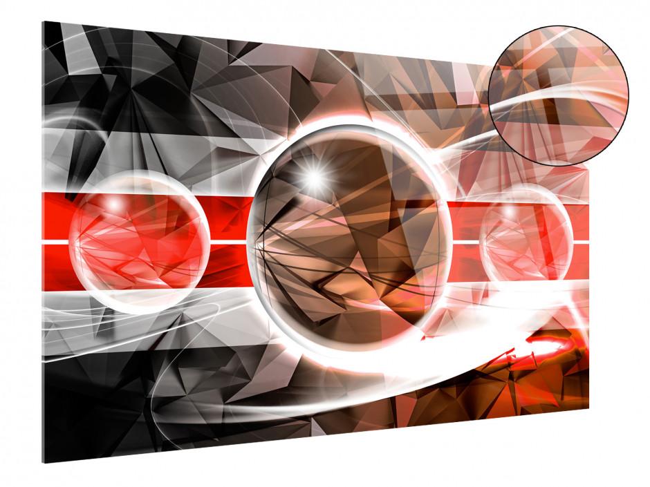 Tableau plexiglas abstrait design SPHÈRES BRILLANTES
