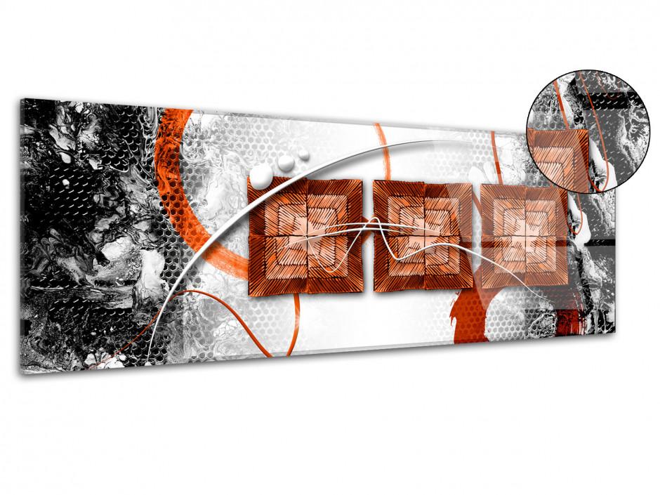 Tableau plexiglas moderne deco abstraite TROIS CARRÉS