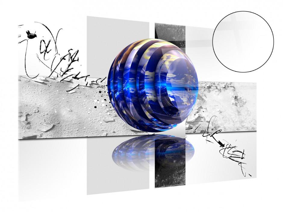 Tableau plexiglas déco abstraite BILLE