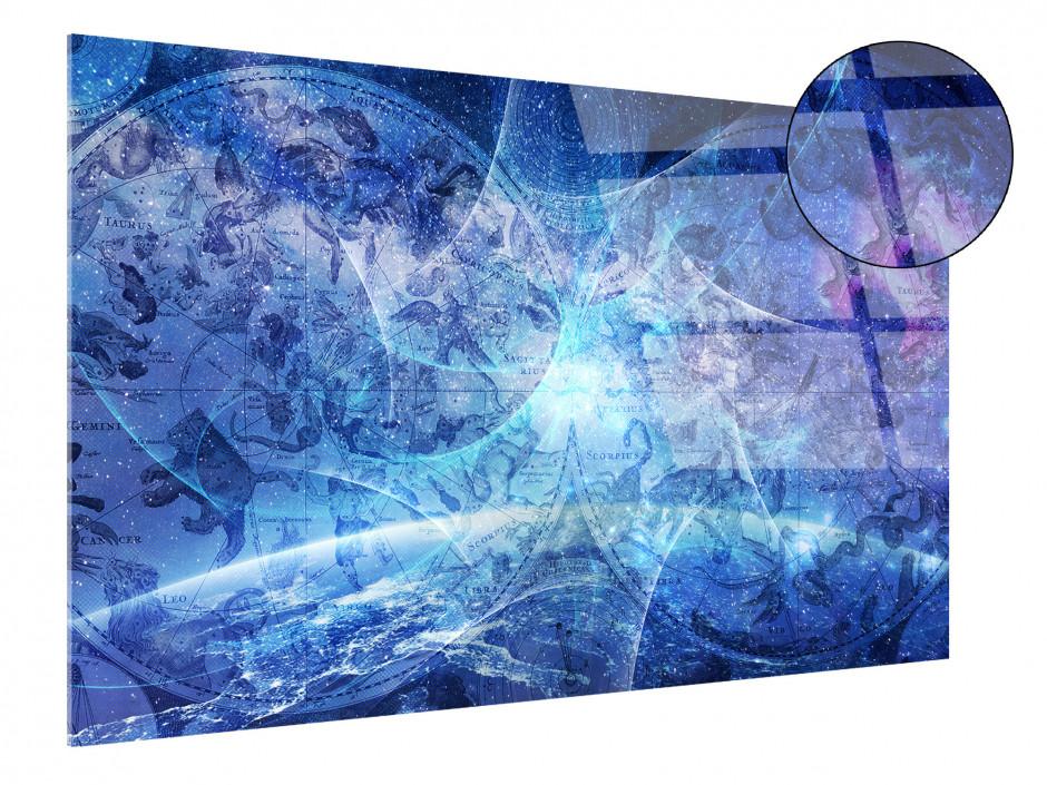 Tableau plexiglas abstrait CARTOGRAPHIE ASTROLOGIE