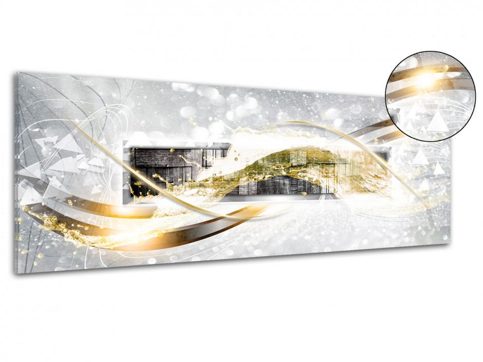 Tableau plexiglas décoration abstraite BOIS