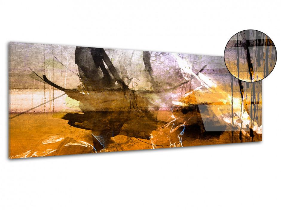 Tableau plexiglas peinture art abstrait TÂCHES DE COULEURS