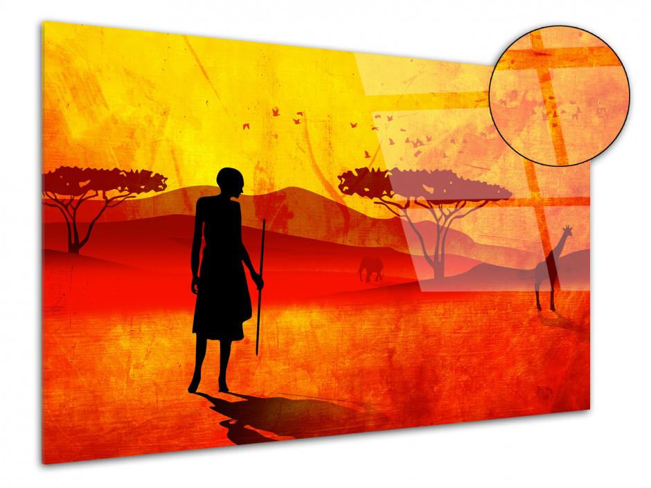 Tableau plexiglas moderne PAYSAGE AFRICAIN