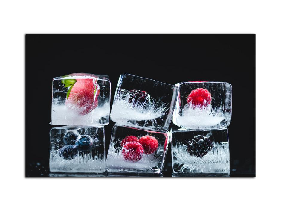 Tableau Plexiglas décoration murale Glaçons de Fruits