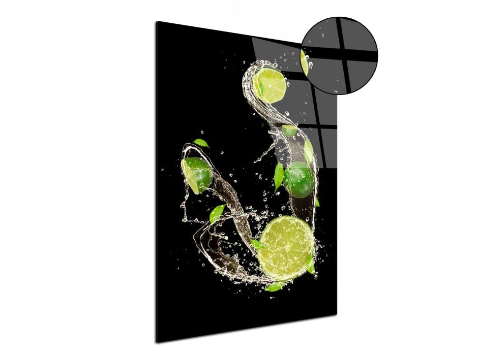 Tableau Plexiglas deco moderne Les Citrons Verts