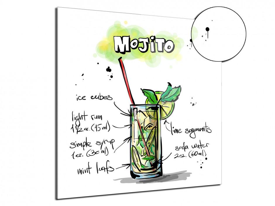 Tableau plexiglas deco Recette Mojito