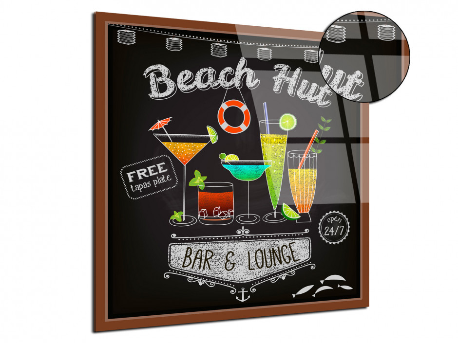 Tableau Plexiglas decoratif Beach Hut