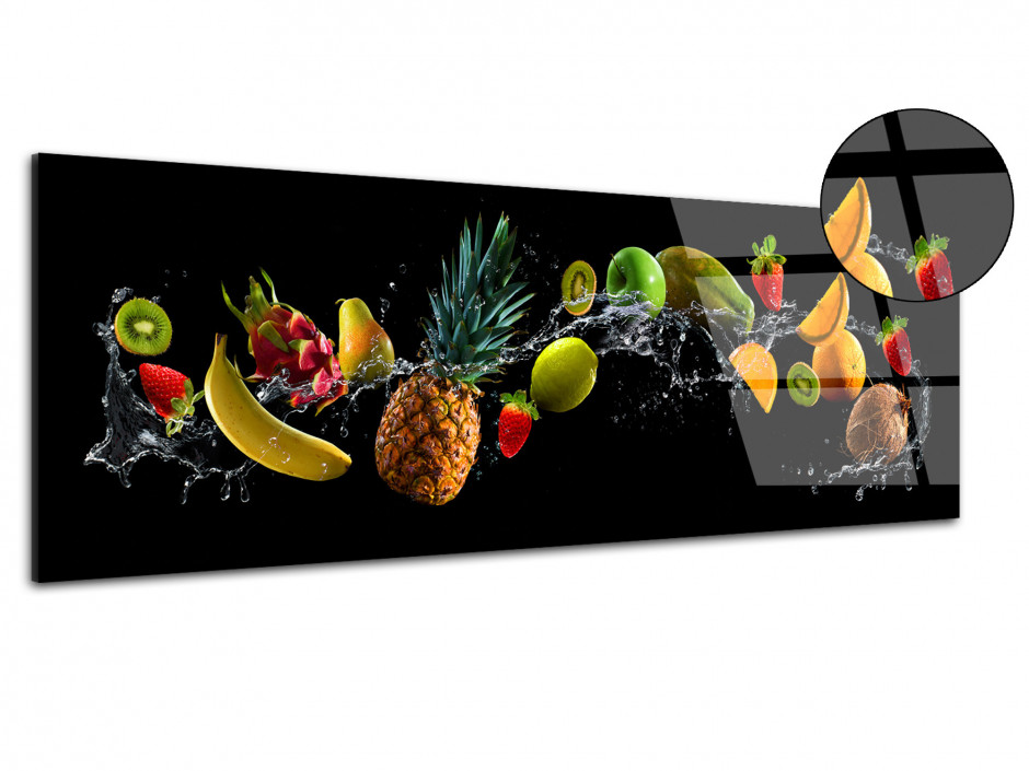 Tableau Plexiglas déco moderne Fruits Party