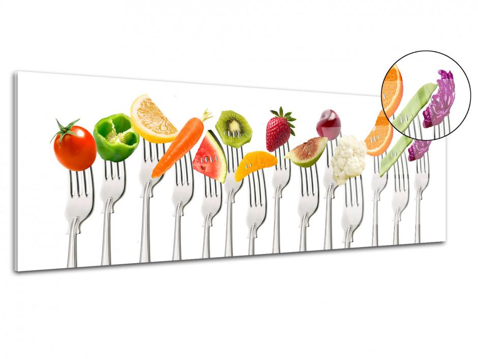 Cadre déco Plexiglas cuisine bouchées gourmandes