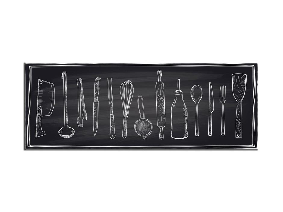 Cadre Plexiglas déco moderne ustensile de cuisine