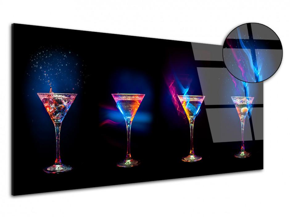 Tableau Plexiglas design moderne Les Verres à Cocktail