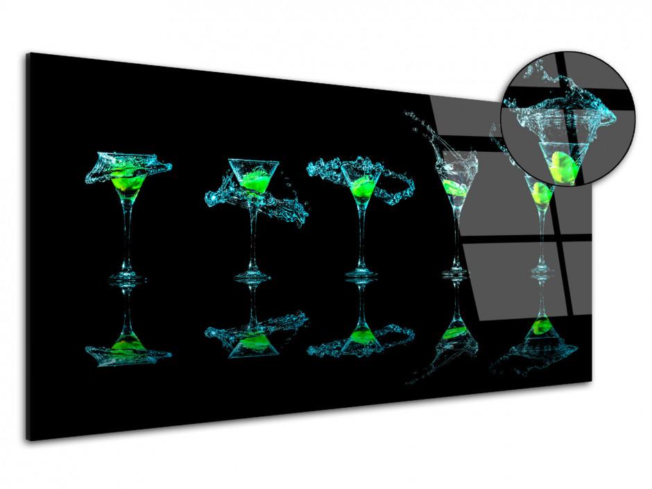 Tableau Plexiglas moderne Verre à Martini
