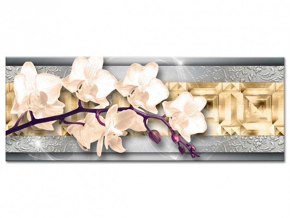 Tableau plexiglas murale ORCHIDÉES BLANCHES