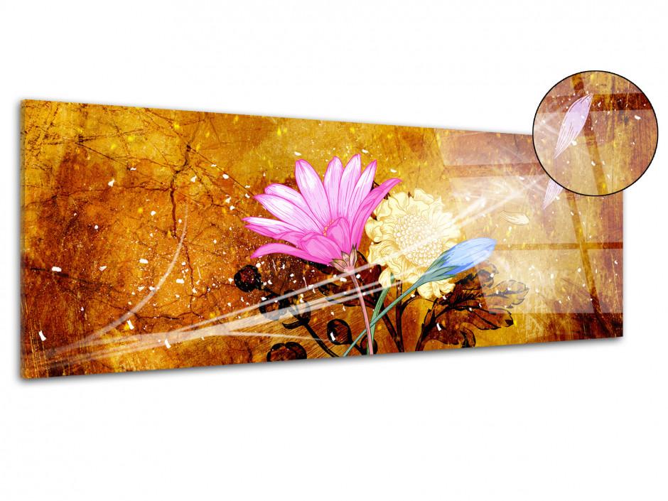 Tableau plexiglas fleurs VENT DE FRAÎCHEUR