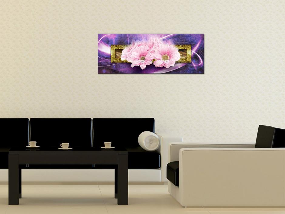 Tableau plexiglas cadre deco fleurs MARGUERITES