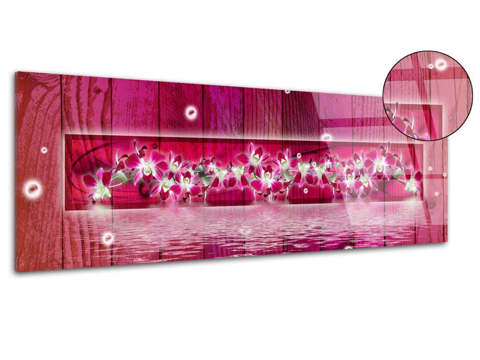 Tableau plexiglas décorative ORCHIDÉES EN FRISE